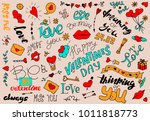 a set of simple drawings in... | Shutterstock .eps vector #1011818773