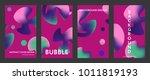 liquid color covers set. fluid...   Shutterstock .eps vector #1011819193