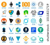 cryptocurrency logo set. | Shutterstock .eps vector #1011821719