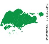 singapore map isolated on... | Shutterstock .eps vector #1011822343