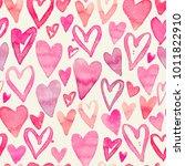 seamless watercolor pattern... | Shutterstock . vector #1011822910