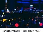 night city blurred background ... | Shutterstock . vector #1011824758