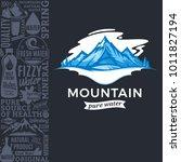 vector ice mountain water... | Shutterstock .eps vector #1011827194
