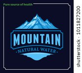 vector ice mountain water logo... | Shutterstock .eps vector #1011827200