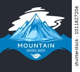 vector ice mountain water logo... | Shutterstock .eps vector #1011827206