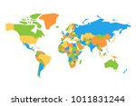 simplified colorful vector map... | Shutterstock .eps vector #1011831244