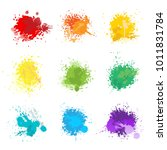 colorful paint splats... | Shutterstock .eps vector #1011831784