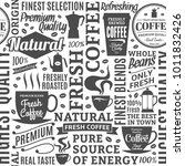 typographic vector coffee shop... | Shutterstock .eps vector #1011832426