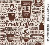 typographic vector coffee shop... | Shutterstock .eps vector #1011832429
