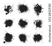 black ink paint splat | Shutterstock .eps vector #1011832930
