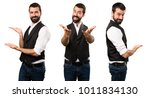 set of cool man presenting... | Shutterstock . vector #1011834130