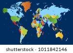 color world map vector | Shutterstock .eps vector #1011842146