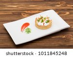 lemon tart with cream decorated ...   Shutterstock . vector #1011845248