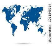 world map vector | Shutterstock .eps vector #1011845314