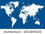 world map vector | Shutterstock .eps vector #1011845320