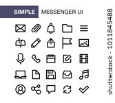 set of messenger icons for... | Shutterstock .eps vector #1011845488