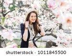 young beautiful caucasian girl...   Shutterstock . vector #1011845500