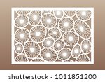template for cutting. round art ... | Shutterstock .eps vector #1011851200