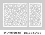 template for cutting. round art ... | Shutterstock .eps vector #1011851419