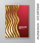 vector red and gold design... | Shutterstock .eps vector #1011853660