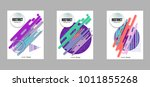 covers templates set with...   Shutterstock .eps vector #1011855268