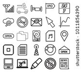 information icons. set of 25... | Shutterstock .eps vector #1011856390