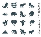 Africa Icons. Set Of 16...