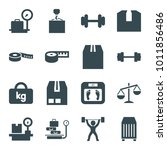Weight Icons. Set Of 16...
