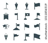 pennant icons. set of 16...