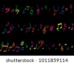 color flying musical notes...   Shutterstock .eps vector #1011859114