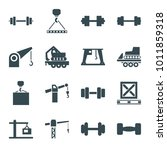 lifting icons. set of 16... | Shutterstock .eps vector #1011859318