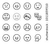 sad icons. set of 16 editable... | Shutterstock .eps vector #1011859510