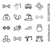 heavy icons. set of 16 editable ... | Shutterstock .eps vector #1011859528