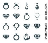 jewel icons. set of 16 editable ... | Shutterstock .eps vector #1011860026