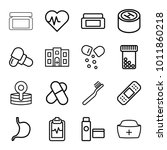 healthcare icons. set of 16...   Shutterstock .eps vector #1011860218