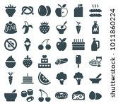 delicious icons. set of 36... | Shutterstock .eps vector #1011860224