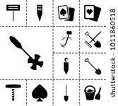 Spade Icons. Set Of 13 Editabl...