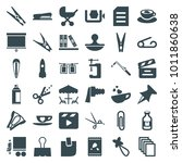 clip icons. set of 36 editable... | Shutterstock .eps vector #1011860638