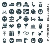 Happy Icons. Set Of 36 Editabl...
