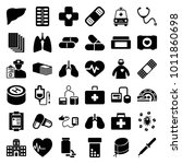 healthcare icons. set of 36... | Shutterstock .eps vector #1011860698