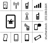 cellular icons set of 13