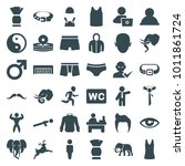 male icons. set of 36 editable... | Shutterstock .eps vector #1011861724