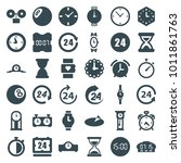 clock icons. set of 36 editable ... | Shutterstock .eps vector #1011861763