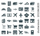 commercial icons. set of 36... | Shutterstock .eps vector #1011861820