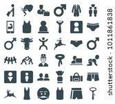 male icons. set of 36 editable... | Shutterstock .eps vector #1011861838