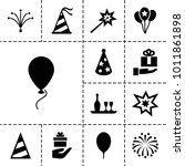 anniversary icons. set of 13... | Shutterstock .eps vector #1011861898