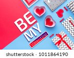person holding a present for... | Shutterstock . vector #1011864190
