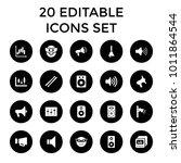 loud icons. set of 20 editable... | Shutterstock .eps vector #1011864544