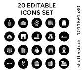 urban icons. set of 20 editable ...   Shutterstock .eps vector #1011864580