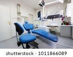 dental ordination with blue... | Shutterstock . vector #1011866089